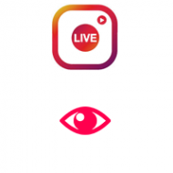 Vistas de video en vivo de Instagram (0.08€ para 100 reproducciones)