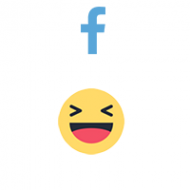 Facebook React HAHA (0.13$ for 100)