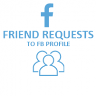 Facebook Friend Requests (0.4$ for 100 Friends)