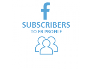 Facebook Subscribers to your facebook profile (0.3$ for 100 Subscibers)