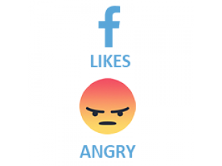 Facebook React ANGRY (0.1$ for 100)