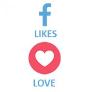 Facebook React LOVE (0.1$ for 100)