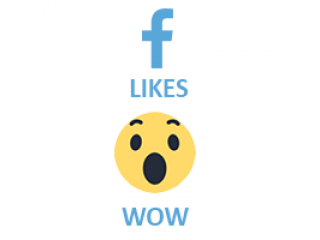 Facebook React WOW (0.15$ for 100)