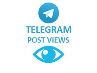 Telegram - Views (1$ for 100 Views)