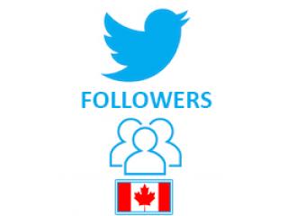 Twitter Followers Target Canada (0.5$ for 100 Followers)