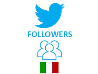 Twitter Followers Target Italian (0.4$ for 100 Followers)