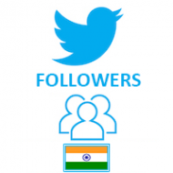 Twitter Followers Target Indian (0.4$ for 100 Followers)
