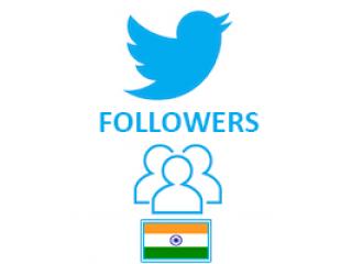 Twitter Followers Target Indian (0.4$ for 100 Followers)