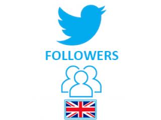 Twitter Followers Target UK (0.6$ for 100 Followers)